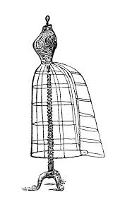 Mrs Beeton Dress Stand Victorian Form Image Vintage Sewing Clip Art Black And White Clipart Wire Illustration