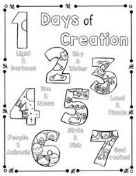 Days Of Creation Coloring Page And Handwriting Practice