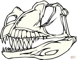 Click The Dinosaur Bones Coloring Pages To View Printable Version Or Color It Online Compatible With IPad And Android Tablets