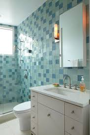 bathroom glass tile bathroom contemporary with accent tiles