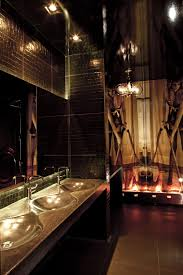 Interior Design Cool Luxury Night Club Vanity Restroom For Mens Decorating With Sexy Wall Decal And Artistic Sink Ideas