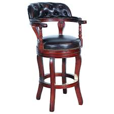 Clubhouse Tufted Leather Swivel Bar Height Stool Set Of 2