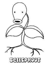 Bellsprout Pokemon Coloring Page Color Online Print