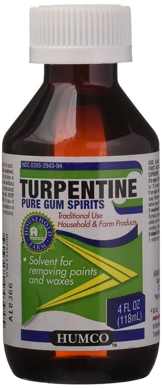 Humco Turpentine Liquid Pure Gum Spirits - 4 oz bottle
