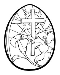 Religious Easter Egg Coloring Pages 10