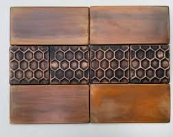 Copper Tiles For Backsplash by Accent Tiles Backsplash Set Of 8 Brown Patinated Copper