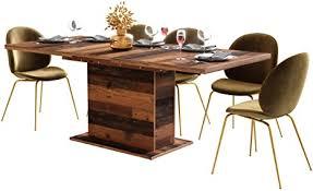 newfurn esstisch ausziehbar 160 200 cm inkl tischplatte wood esszimmertisch vintage industrial 160x76 6x90 cm bxhxt tisch küchentisch
