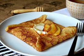 cuisine crepe crêpes with goat cheese and salted caramel apples s