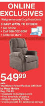 Mega Motion Lift Chair Manual by Walgreens Black Friday Walter Power Recline Lift Chair By Mega