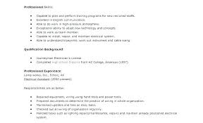 Resume Sample Electrician Examples This Is X