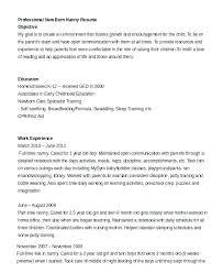 Resume For Nanny Job Sample Housekeeper Template