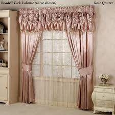 Anna Lace Curtains With Attached Valance by Portia I Wide Curtains With Sash Tiebacks Wide Curtains And Valance
