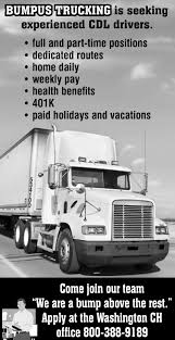 CDL Drivers, Bumpus Trucking