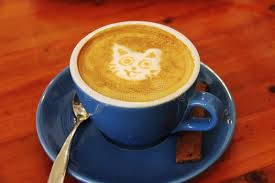A Cup Of Coffee With Latte Art Cat