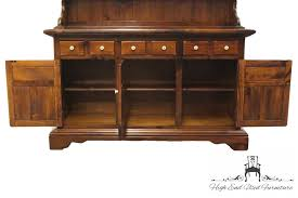 Ethan Allen Townhouse Curio Cabinet by High End Used Furniture Ethan Allen Antiqued Pine Old Tavern 60