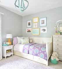 Pretty Grey And Purple Girls Room With Yellow Teal Accents