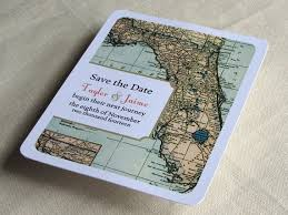Florida Wedding Save The Date Postcard