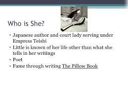 The Pillow Book Sei Shonagon