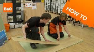 Laminate Floor Spacers Homebase by Weekend Demo How To Lay Laminate Flooring Youtube