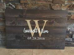 Rustic Hand Painted Pallet Wooden Guestbook By BBSIGNSDESIGNS