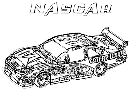 Image Of Cool Race Car Coloring Pages