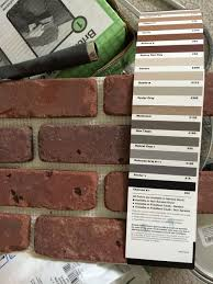 grout color for my interior brick wall