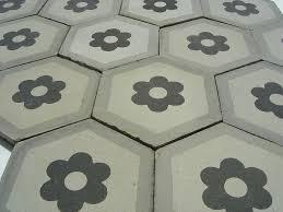 with hexagon floor tile new home design