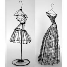 Ive Always Been Fascinated By 2D 3D Relations These Wire Dresses Are A