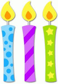 happy birthday candle clipart