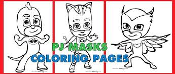 Pj Masks Coloring Pages Black And White Copy Free Pdf Download Of