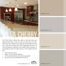 Kitchen Paint Colors With Golden Oak Cabinets by Color Palette To Go With Our Villa Cherry Kitchen Cabinet Line