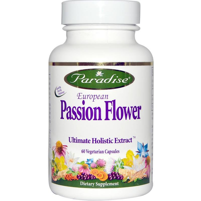 Paradise Herbs European Passion Flower Ultimate Holistic Extract Dietary Supplement - 60ct
