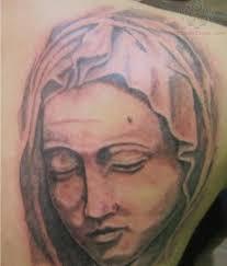 Angel Face Tattoo Design