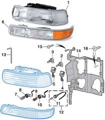 headlight parklight 1999 02 chevy silverado2000 06 chevy