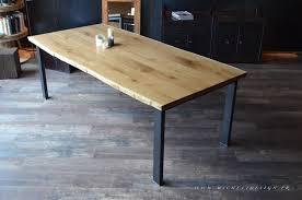table en bois industriel amandiks