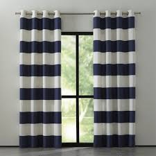 Blue Vertical Striped Curtains by Alston Blue And White Striped Curtains Crate And Barrel