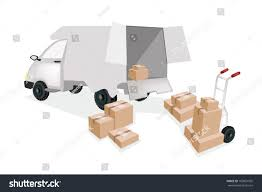 Hand Truck Dolly Loading Corrugated Cardboard Stock Vector (Royalty ...