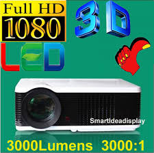 3000lumens 1080p hd led 3d projector with led l