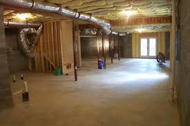 basement waterproof at wooden roof with iron poles and brick