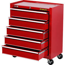 Service Truck Tool Box Drawers 5 Drawer Red Rolling Cabinet Storage ...