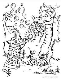 Dragon Color Page Fantasy Medieval Coloring Pages Plate Sheetprintable