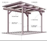 free pergola plans how to build a pergola