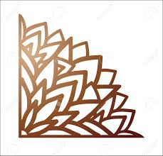 Laser Cutting Corner Vector Template For Paper Metal And Woodcut Tapestry Panel