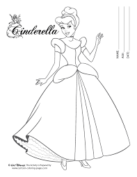 Coloring Pages For Cinderella Black White