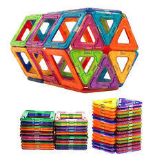 Valtech Magna Tiles 100 by Magna Tiles 100 Piece Clear Colors 3d Building Set Valtech Ebay