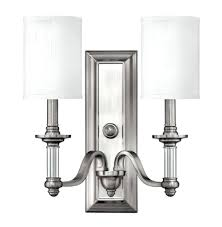 george kovacs 2 light wall sconce brushed nickel 1 in interior