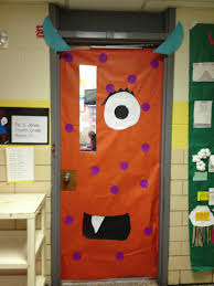 Halloween Classroom Door Decorations Pinterest by Monster Door Decorated Classroom Door Education Pinterest