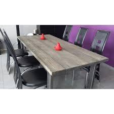 table salle a manger mtal bois style industriel a vendre table