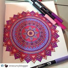This Colorful Mandala Was Made Possible Thanks To The Worlds Best Coloring Book AND Tombow