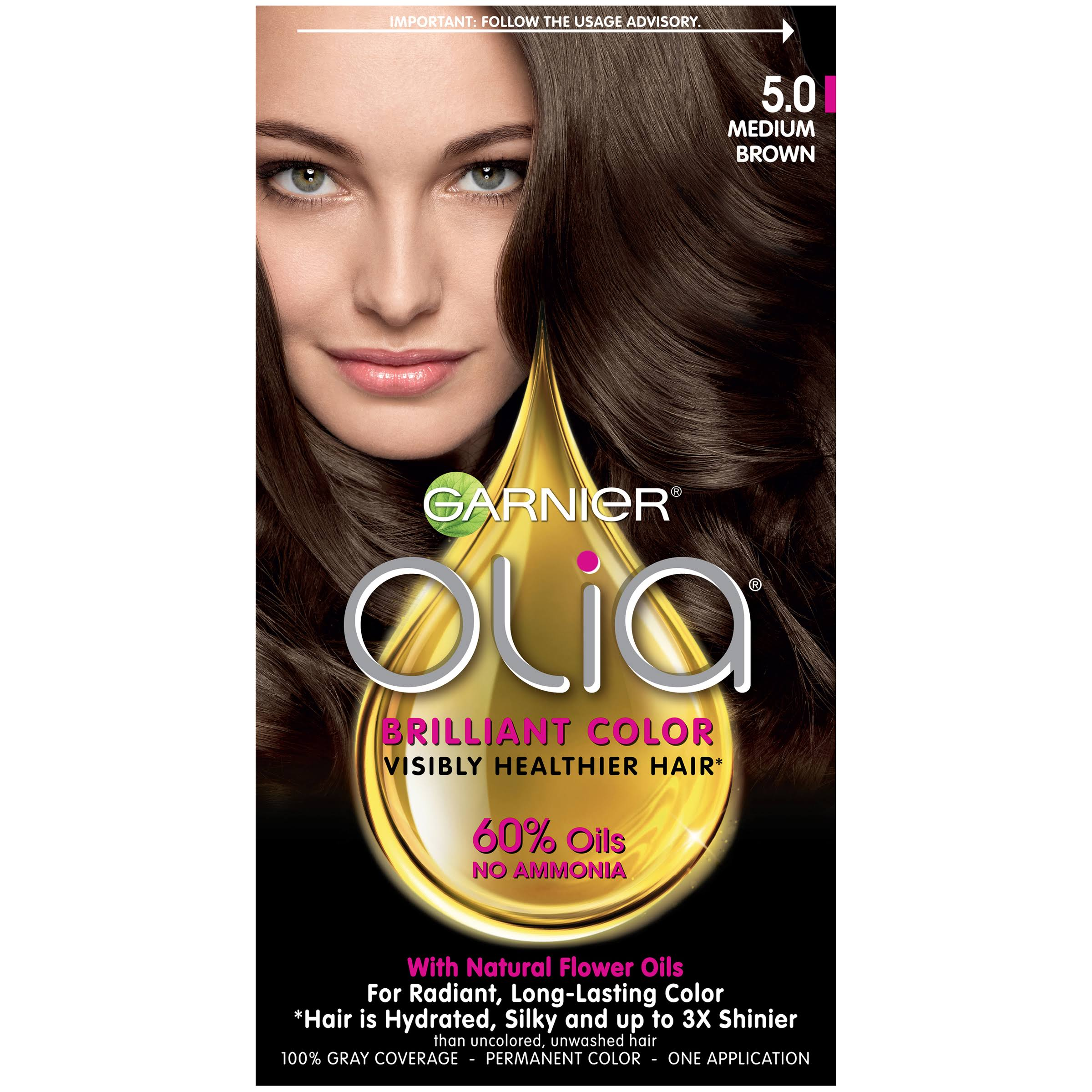 Garnier Olia Oil Powered Permanent Color - 5.0 Medium Brow